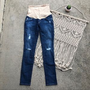 AG Denim Distressed Maternity Jeans Size 24